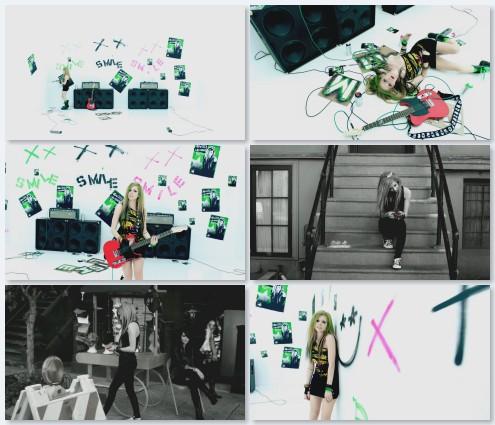 клип Avril Lavigne - Smile (2011)