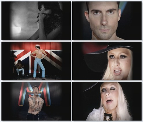 клип Maroon 5 и Christina Aguilera - Moves Like Jagger (2011)